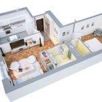 40+ mẫu thiết kế căn hộ có 1 phòng ngủ dành cho cặp vợ chồng trẻ 1