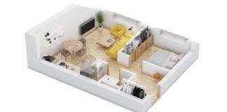 40+ mẫu thiết kế căn hộ có 1 phòng ngủ dành cho cặp vợ chồng trẻ 10