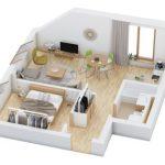 40+ mẫu thiết kế căn hộ có 1 phòng ngủ dành cho cặp vợ chồng trẻ 11