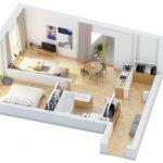40+ mẫu thiết kế căn hộ có 1 phòng ngủ dành cho cặp vợ chồng trẻ 12