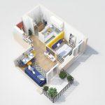 40+ mẫu thiết kế căn hộ có 1 phòng ngủ dành cho cặp vợ chồng trẻ 14