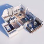 40+ mẫu thiết kế căn hộ có 1 phòng ngủ dành cho cặp vợ chồng trẻ 15