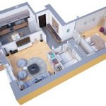 40+ mẫu thiết kế căn hộ có 1 phòng ngủ dành cho cặp vợ chồng trẻ 2