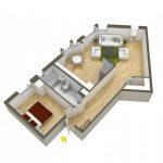 40+ mẫu thiết kế căn hộ có 1 phòng ngủ dành cho cặp vợ chồng trẻ 20