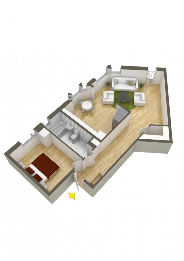 40+ mẫu thiết kế căn hộ có 1 phòng ngủ dành cho cặp vợ chồng trẻ
