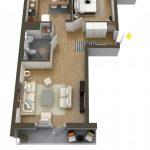 40+ mẫu thiết kế căn hộ có 1 phòng ngủ dành cho cặp vợ chồng trẻ 21