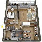40+ mẫu thiết kế căn hộ có 1 phòng ngủ dành cho cặp vợ chồng trẻ 23