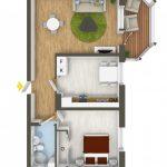 40+ mẫu thiết kế căn hộ có 1 phòng ngủ dành cho cặp vợ chồng trẻ 29