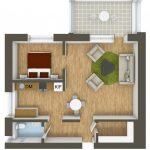 40+ mẫu thiết kế căn hộ có 1 phòng ngủ dành cho cặp vợ chồng trẻ 30