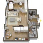 40+ mẫu thiết kế căn hộ có 1 phòng ngủ dành cho cặp vợ chồng trẻ 31