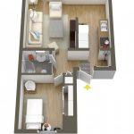 40+ mẫu thiết kế căn hộ có 1 phòng ngủ dành cho cặp vợ chồng trẻ 38