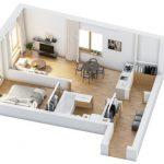 40+ mẫu thiết kế căn hộ có 1 phòng ngủ dành cho cặp vợ chồng trẻ 6