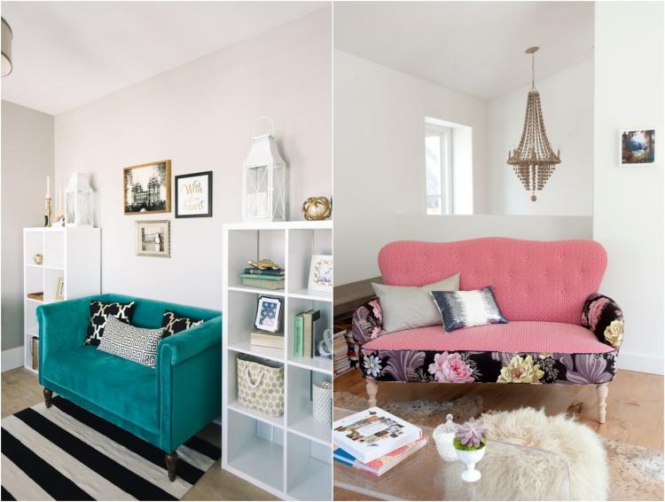 ghế sofa nhỏ đầy màu sắc cho phòng khách