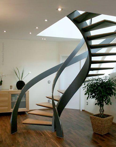 mẫu cầu thang đẹp cho nhà ống 1