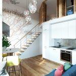 mẫu thiết kế căn hộ thông tầng 1