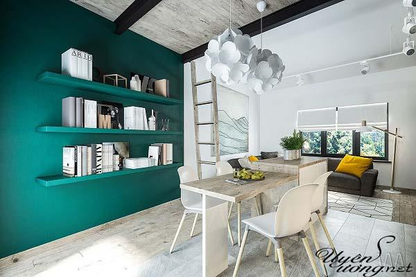 mẫu thiết kế căn hộ thông tầng 10