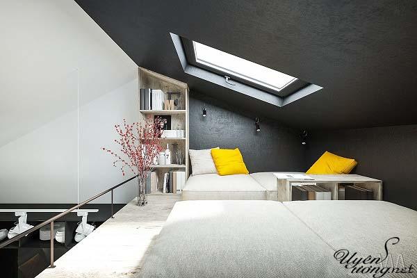 mẫu thiết kế căn hộ thông tầng 12