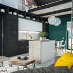 mẫu thiết kế căn hộ thông tầng 13