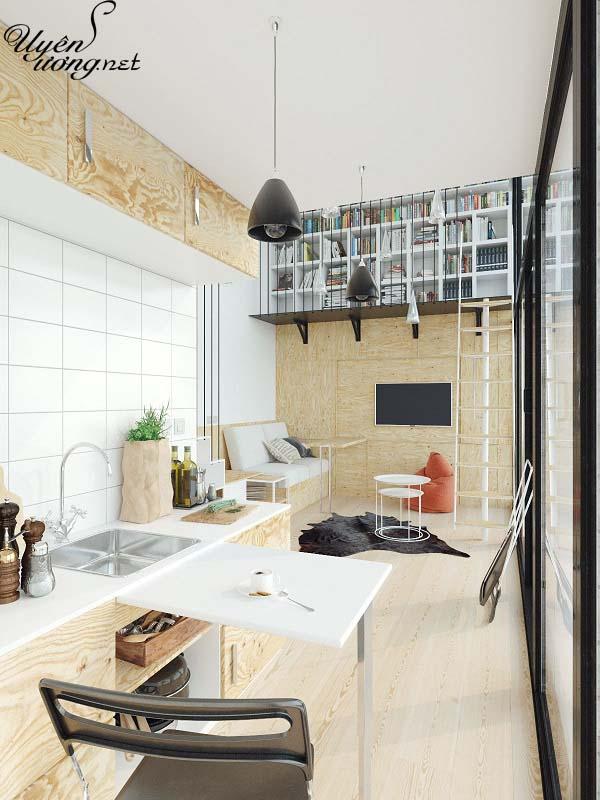 mẫu thiết kế căn hộ thông tầng 14