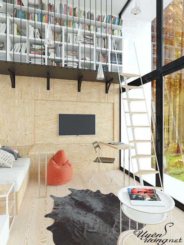 mẫu thiết kế căn hộ thông tầng 15