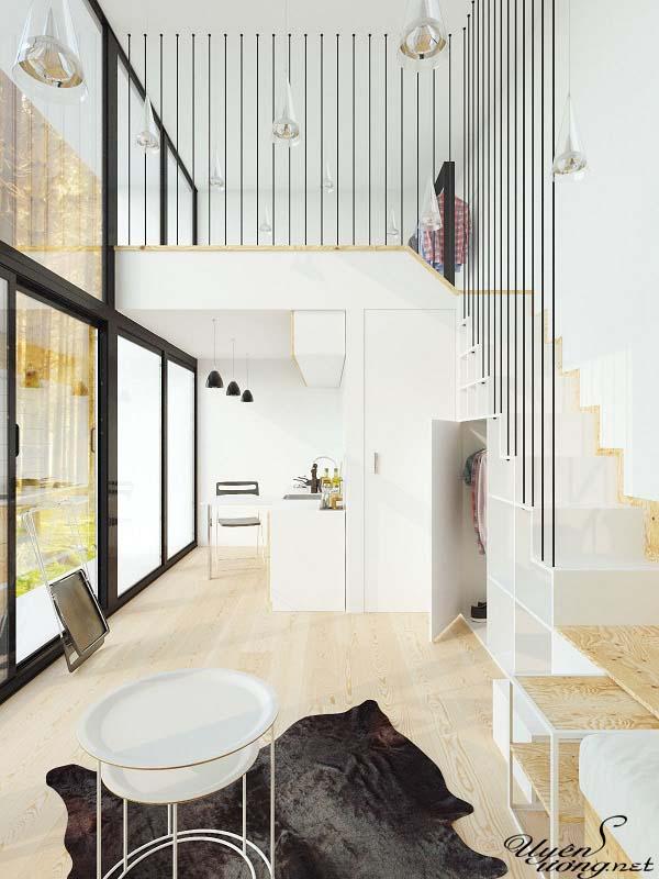 mẫu thiết kế căn hộ thông tầng 16