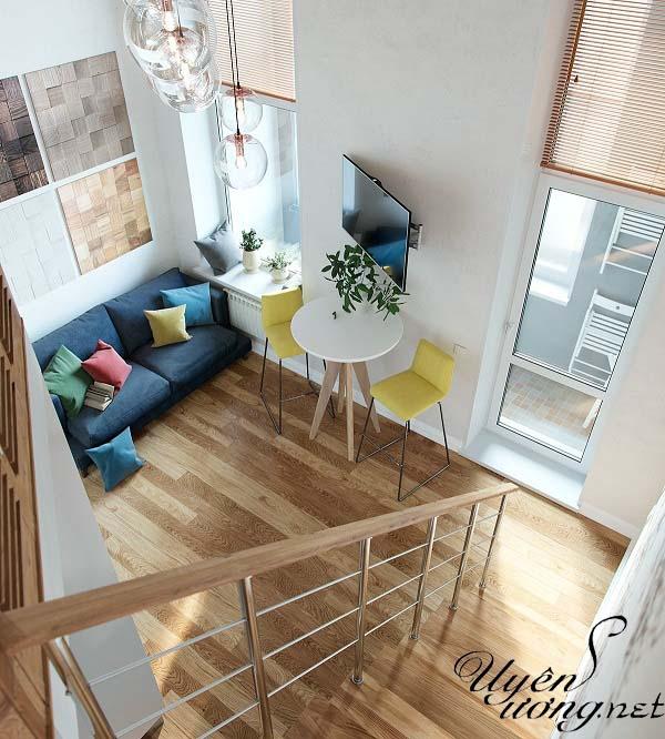 mẫu thiết kế căn hộ thông tầng 2