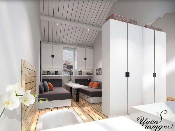 mẫu thiết kế căn hộ thông tầng 20