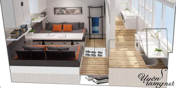 mẫu thiết kế căn hộ thông tầng 22