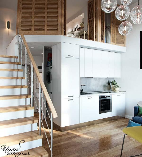 mẫu thiết kế căn hộ thông tầng 4