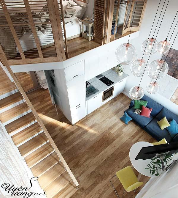 mẫu thiết kế căn hộ thông tầng 7
