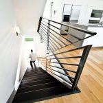 mẫu thiết kế cầu thang đẹp được làm từ gỗ sắt kính inox 22