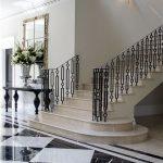 mẫu thiết kế cầu thang đẹp được làm từ gỗ sắt kính inox 23