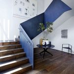 mẫu thiết kế cầu thang đẹp được làm từ gỗ sắt kính inox 27