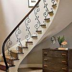 mẫu thiết kế cầu thang đẹp được làm từ gỗ sắt kính inox 38