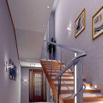 mẫu thiết kế cầu thang đẹp được làm từ gỗ sắt kính inox 9