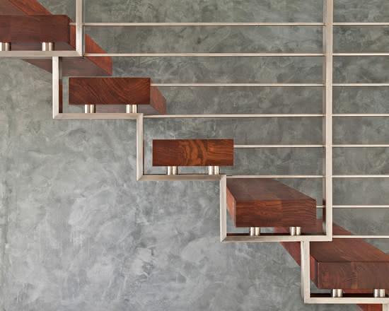 mẫu thiết kế cầu thang gỗ đẹp 13