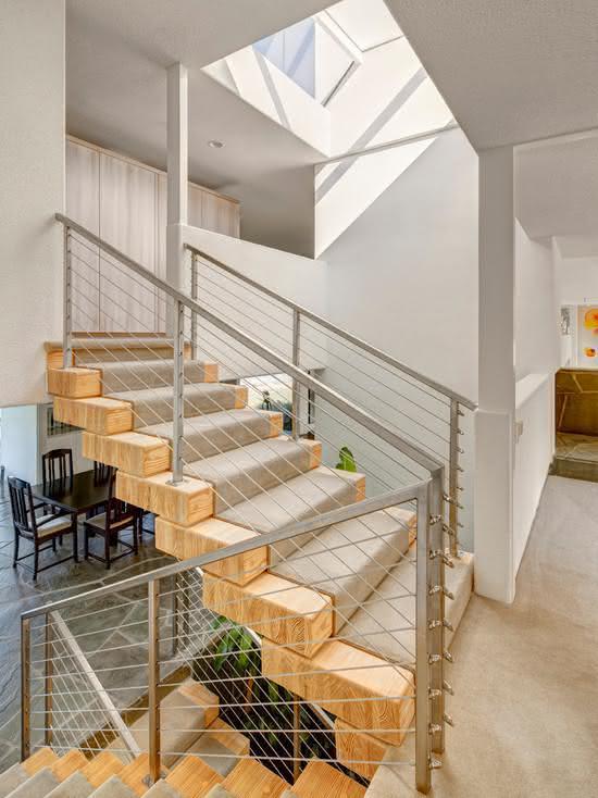 mẫu thiết kế cầu thang gỗ đẹp 15