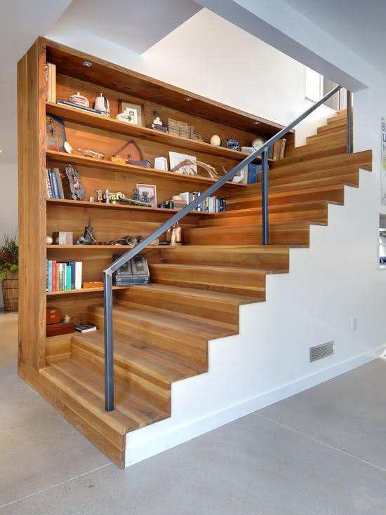 mẫu thiết kế cầu thang gỗ đẹp 17