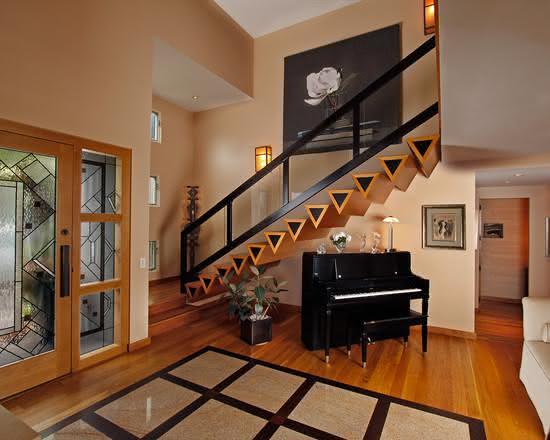 mẫu thiết kế cầu thang gỗ đẹp 2