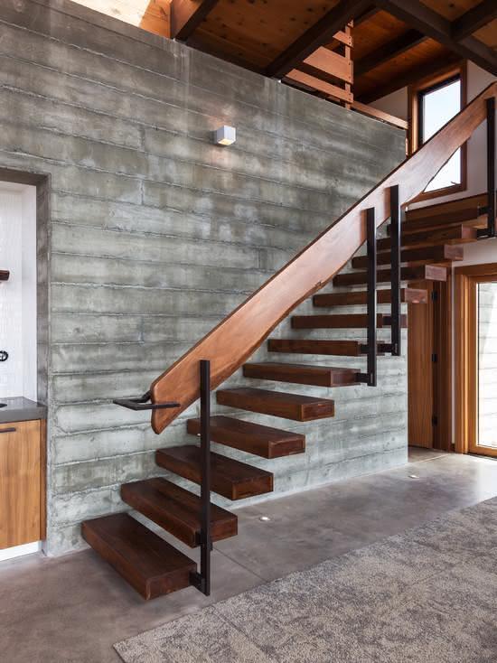 mẫu thiết kế cầu thang gỗ đẹp 25