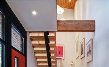 mẫu thiết kế cầu thang gỗ đẹp 3