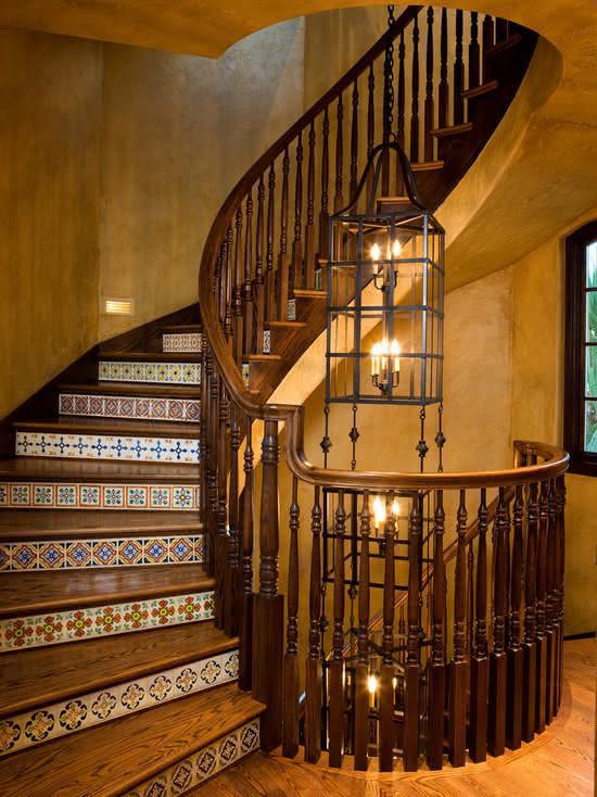 mẫu thiết kế cầu thang gỗ đẹp 32