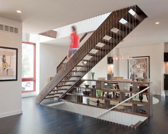 mẫu thiết kế cầu thang gỗ đẹp 4