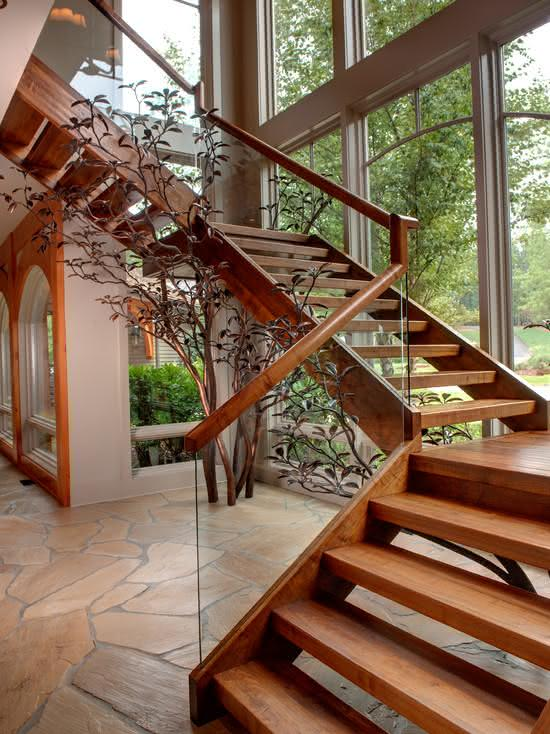 mẫu thiết kế cầu thang gỗ đẹp 44