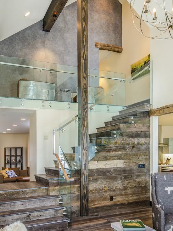 mẫu thiết kế cầu thang gỗ đẹp 45