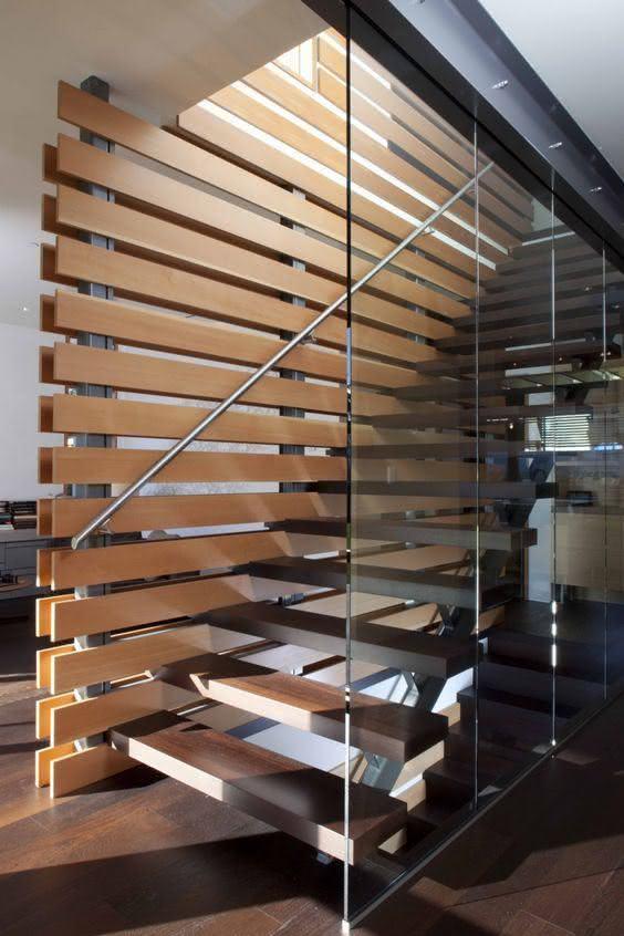mẫu thiết kế cầu thang gỗ đẹp 48