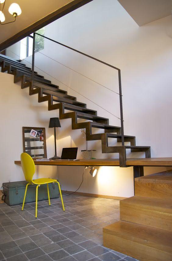 mẫu thiết kế cầu thang gỗ đẹp 49