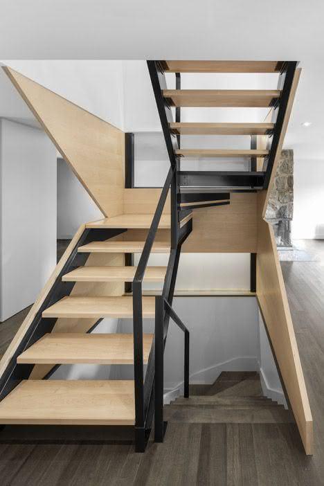 mẫu thiết kế cầu thang gỗ đẹp 55
