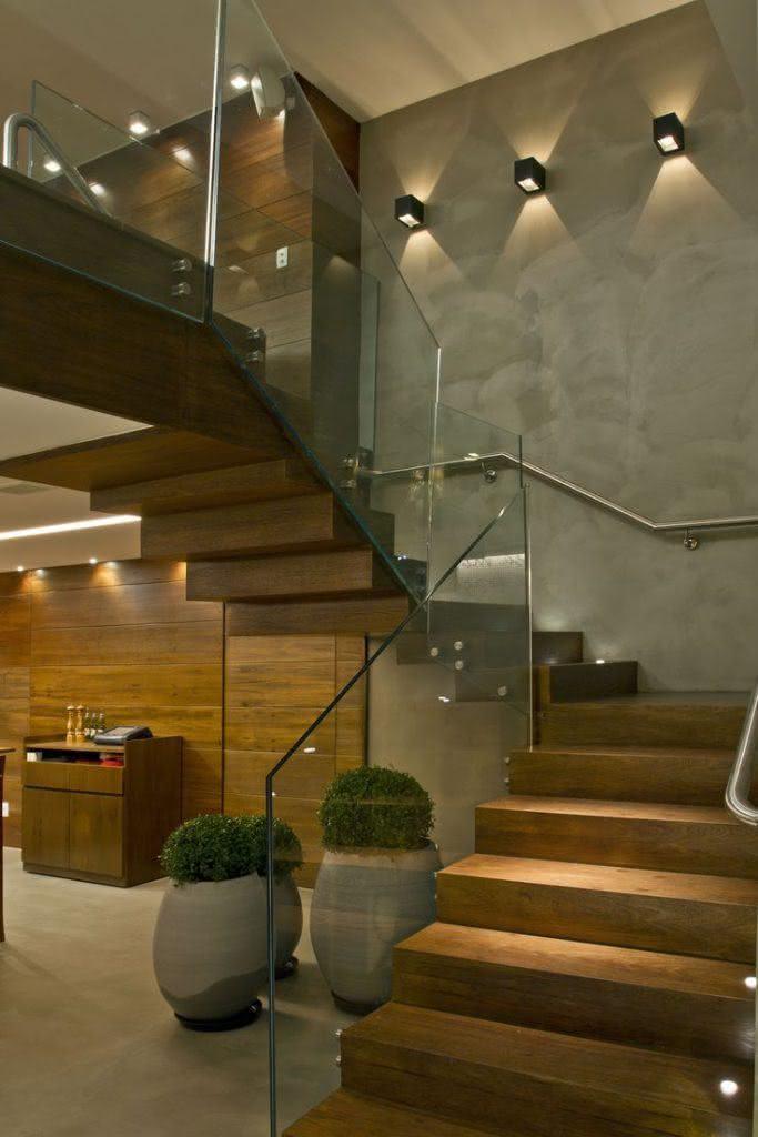 mẫu thiết kế cầu thang gỗ đẹp 57