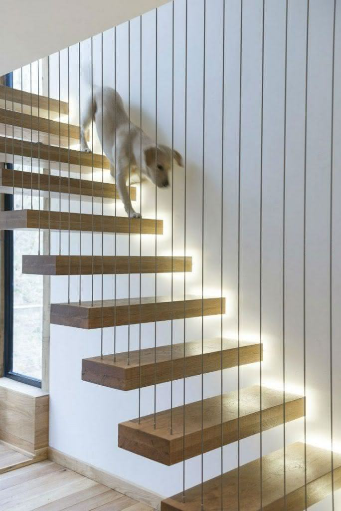 mẫu thiết kế cầu thang gỗ đẹp 63
